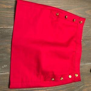 J. Crew Skirt Short Pink Gold Buttons 0 Mini